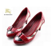 Burberry Chaussure Femme Rouge Mocassin Escarpins Magasin Paris