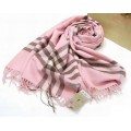 Burberry Etole Rose Echarpe Rayures Magasin Bordeaux