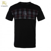 Burberry Col Rond Manches Courte Noir T Shirt Homme Outlet Store
