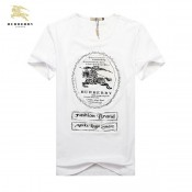 Burberry Col Rond T Shirt Homme Uni Manches Courte Blanc Impermeable