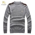 Burberry Gris Pullover Manches Longue Col Rond Pull Homme Paris Boutique