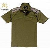 Burberry Vert T Shirt Homme Manches Courte Polo Uni Robe Fille