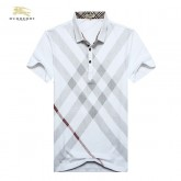 Burberry Lille Blanc Manches Courte Polo T Shirt Homme Soldes Londres