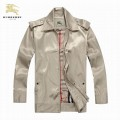 Burberry Lille Gris Manteau Veste Homme Polo Uni Manches Longues Zippe Outlet Londres