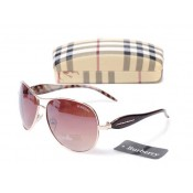 Burberry Lille Lunettes soleil Ovale Cerclee Rouge Trench Occasion