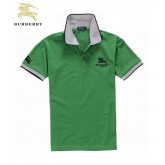 Burberry Lille Manches Courte Polo Vert T Shirt Homme Magasin Lyon