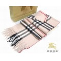 Burberry Lille Rose Echarpe Rayures Etole Porte Feuille