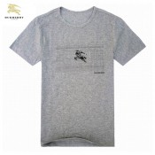 Burberry Manches Courte Gris Col Rond Uni T Shirt Homme Foulard Style