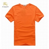 Burberry Orange Uni Manches Courte Col Rond T Shirt Homme Boutique Paris