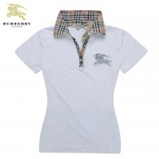 Burberry Manches Courte Polo Blanc T Shirt Femme Fragrance