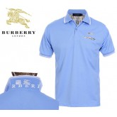 Burberry Polo T Shirt Homme Bleu Uni Manches Courte Factory Shop