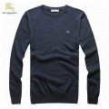 Burberry Pull Homme Manches Longue Gris Pullover Col Rond Vente Privee