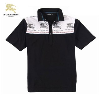 Burberry Polo T Shirt Homme Manches Courte Noir Factory Outlet