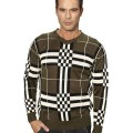 Burberry Pullover Manches Longue Col Rond Pull Homme Vert Montre Sport