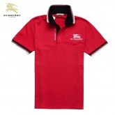 Burberry T Shirt Homme Rouge Manches Courte Polo Factory Shop