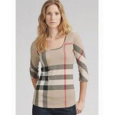 Burberry T Shirt Femme Col Rond Manches Longue Online Store
