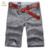 Burberry Chic Uni Pantalon Homme Short Gris Boutique En Ligne