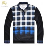 Burberry Polo Pullover Pull Homme Manches Longue Carreaux Online