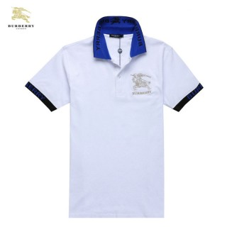 Burberry Polo T Shirt Homme Manches Courte Blanc Magasin Lyon