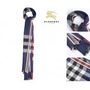 Burberry Bleu Echarpe Site Officiel