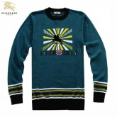 Burberry Manches Longue Pullover Pull Homme Uni Bleu Robe Fille