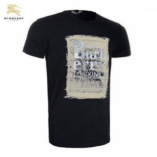 Burberry Manches Courte T Shirt Homme Col Rond Serigraphie Soldes Boutique