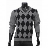 Burberry Col V Manches Longue Pull Homme Noir Pullover Factory Outlet