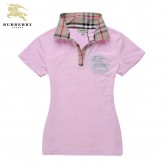 Burberry Rose Polo T Shirt Femme Manches Courte Uni Nouvelle Collection