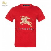 Burberry Rouge Col Rond Manches Courte T Shirt Homme Outlet Store Online