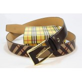 Burberry Urbain Rayures Ceinture reglable Multicolor Factory Shop