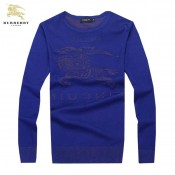 Burberry Bleu Col Rond Pull Homme Pullover Manches Longue Fragrance