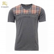 Burberry Manches Courte Beige Col V T Shirt Homme Factory Shop