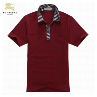 Burberry Polo Rouge Uni Manches Courte T Shirt Homme Magasin Paris