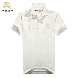 Burberry Blanc T Shirt Homme Polo Manches Courte Magasin Marseille