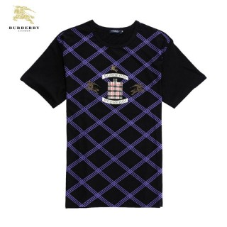 Burberry Col Rond Manches Courte T Shirt Homme Pourpre Online Store