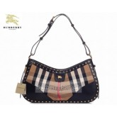 Burberry Gris Portes epaule Smoked Check Sac Femme Ballerines