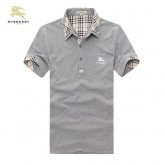 Burberry Gris T Shirt Homme Uni Manches Courte Polo Outlet Paris