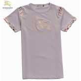 Burberry Manches Courte Gris Col Rond Uni T Shirt Homme Foulard Solde