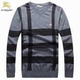 Burberry Pullover Manches Longue Noir Pull Homme Col V Official Website