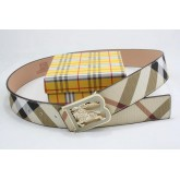 Burberry Rayures Casual Ceinture reversible Beige Outlet Online