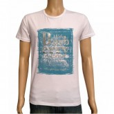 Burberry T Shirt Homme Manches Courte Serigraphie Col Rond Bleu Cravate
