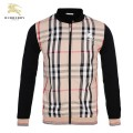 Burberry Zippe Veste Homme Col Montant Manches Longues Sweat Multicolor Online Shop