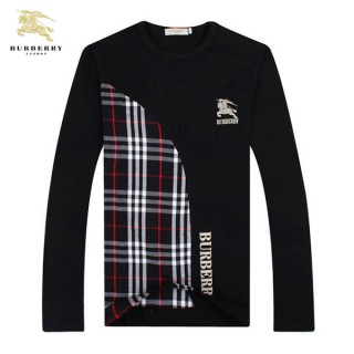 Burberry Col Rond Noir Manches Longue T Shirt Homme Madeleine