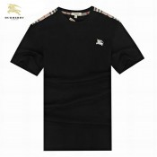 Burberry Col Rond Noir T Shirt Homme Manches Courte Outlet Store