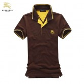 Burberry Marron Polo Uni Manches Courte T Shirt Homme Galeries Lafayette