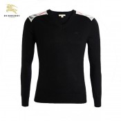 Burberry Uni Manches Longue Pullover Noir Pull Homme Impermeable