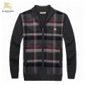 Burberry 2017 Pull Homme Manches Longue Noir Cardigans Zippe Montpellier