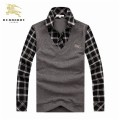 Burberry Noir Pull Homme Polo Manches Longue Pullover Site Officiel