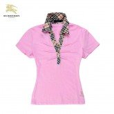 Burberry Rose Polo Manches Courte Uni T Shirt Femme Outlet Store Online