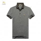 Burberry T Shirt Homme Polo Uni Manches Courte Gris Trench Soldes